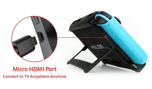 PELDA Pro - The First Nintendo Switch Battery Case with HDMI miniHDMIケーブルを挿す